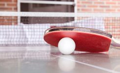 Mistrzostwa szkoły w tenisie stołowym.