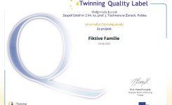 "OdznakiJakości za projekt ""Fiktive Familie"