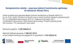 """Projekt """"Kompetentne szkoły – poprawa jakości kształcenia ogólnego na obszarze miasta Żory"""""""